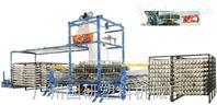 国研塑料机械八至十梭圆织机用于生产编织袋的机器