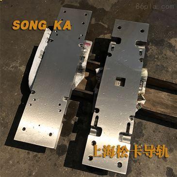 按客户需求定做 高强度电梯立柱导轨v型导轨板双控定梁立式车床镶钢